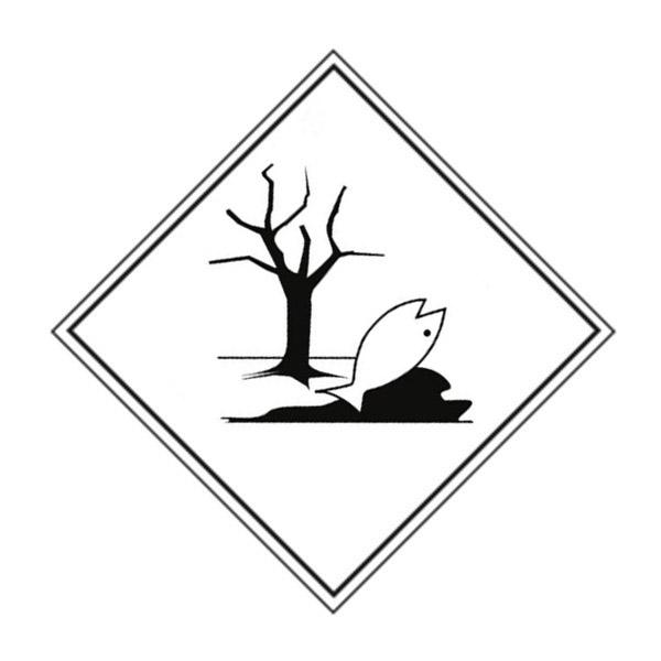 Etiqueta ADR contaminante del mar