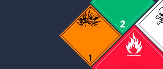 Etiquetado y señalización que se aplica al transporte de mercancías peligrosas